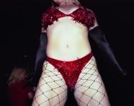 Lisa Kereszi - Julie Atlas Muz in red bikini